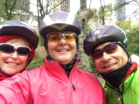 Camille, me, and Ron riding The Five Boros Bike Tour in NYC. May 2016