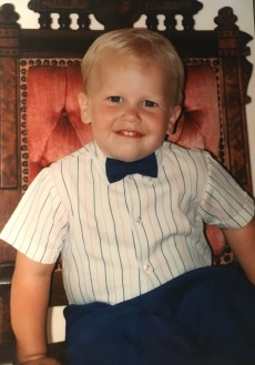 Two-year-old Andrew loved to get dressed up!